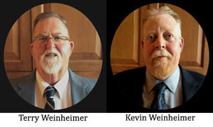 Terry and Kevin Weinheimer, certified flooring inspection experts.